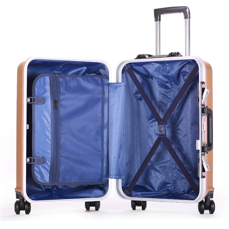 Fashion ABS Trolley luggage Suitcase With Universal Wheels3