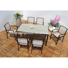 Outdoor Aluminium Esstisch und Stuhl