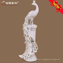 Décoration intérieure décoration décoration de paon haute qualité avec résine