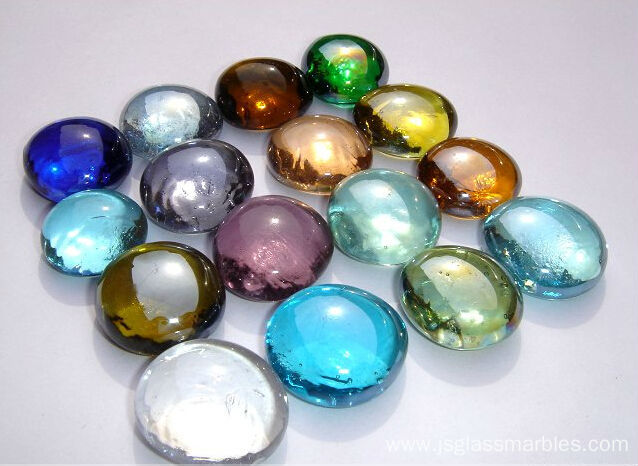 Single Colored Marbles : Wholesale colored round flat glass marbles for home