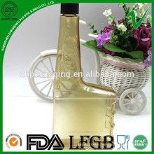 PVC chemical resistant square empty plastic motor oil bottle 400ml for fuel oil