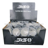 Super Hi-bounce Ball, Natural Rubber Material, Hollow Inside, Sized 60mm, 40pcs/Display BoxNew