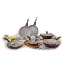 Korea Aluminum die cast 3D Titanium stone cookware