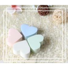 Esponja em forma de coração fofa / Puff em pó / esponja em forma de coração ferramentas cosméticas