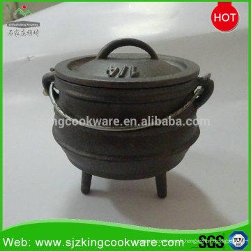 1/4 # pot de potjie noir en fonte d'Afrique du Sud, noir
