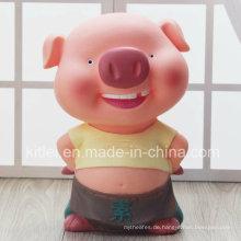 Heißer Verkauf Pig Coin Bank Münze Geld Speicher Vinyl Cartoon Puppe Spielzeug