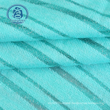 Nice china light and thin silver lurex stripe knit jersey fabric metallic for summer clothes