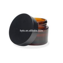 Frasco cosmético do vidro 50ml de vidro ambarino