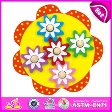 2015 New Kids Wooden Gear Toy, Popualr Cute Children Gaming Gear Toy, Lovely Baby Flower Style Wooden Gear Toy W13e036