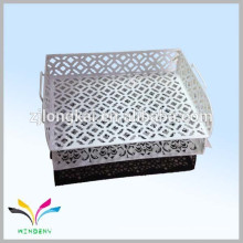 Single tire embossing Office Metal powder coated metal desk tray