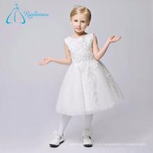 Красивая Оптом Современный Простой Цветок Девочки Платья Белый