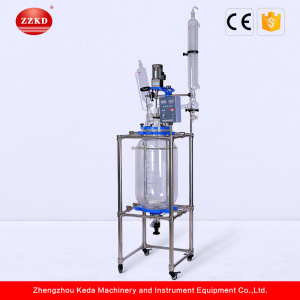 50L Chemicals Fluidized Bed Jacketed Glass Reactor