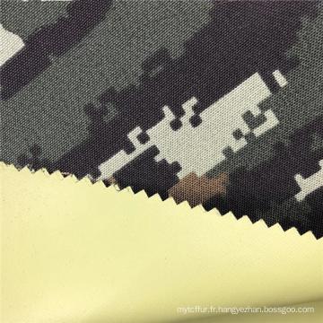 Tissu militaire de camouflage en polyester ignifuge
