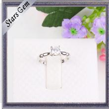 Venta entera de diamantes sintéticos de moda Shinny joyería de plata