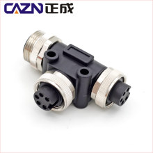 7/8 connector 3 4 5 6 pin one into two 1 male to 2 female T Type wiring splitter separator