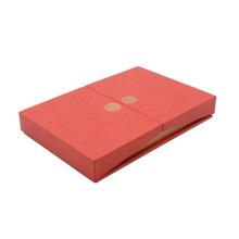 New design red square flat clamshell small gift box Festive gift boxes