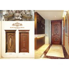 Madera de teca Diseño de puerta principal Puertas de madera maciza