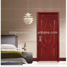 Porte de chambre à coucher avec conception de panneau ovale, porte-manteau de mode Designer Sunmica, portes en bois de Ganesh les plus populaires