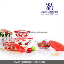 Decal 5PCS Glass Bowl Set for Storage