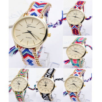 New Arrival Girls Weave Metal Chain Quartz Watches
