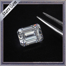 Excelente corte al por mayor Octagon forma Emerald Cut alta calidad Moissanite