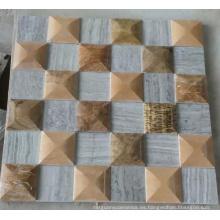 Mosaico de mármol de la pared 3D Mosaic (HSM224)