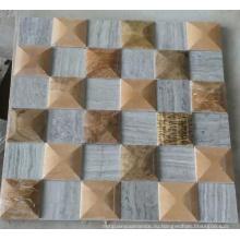 Мозаика из мраморной мозаики 3D (HSM224)