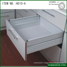 Single layer heightened plate adjustable concealed drawer slide
