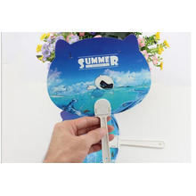 Ventilateurs à main en plastique faits sur commande de petit cadeau de promotion d'été de fan de publicité