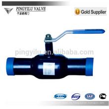 Válvula de bola de soldadura a tope de acero al carbono para calefacción central
