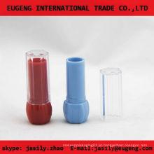 Recipiente de bálsamo de plástico vazio transparente