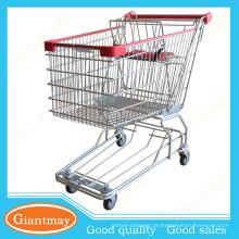 107L de boa qualidade Zine plated shopping cart