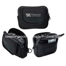 Fashionable Black Neoprene Pouch for Camera, Neoprene Camera Case