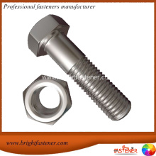 Short Lead Time for for Supply Hexagonal Bolts, Hex Cap Bolts, Heavy Hex Bolts, Hex Machine Bolts, Din 6914 Structural Bolts, to Your Requirements M10X40mm 18-8 Stainless Steel Grade A2 Hex Bolts export to Singapore Importers