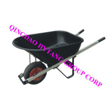 iron square handle plastic tray wheelbarrow