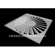 diffuseur à jet hélicoïdal pour la ventilation
