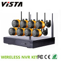 720P HD Outdoor Waterproof Bullet Wireless 8ch NVR Kit