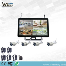 4CH 1.3 / 2.0MP Wifi NVR Kits tare da Monitor 15 ""