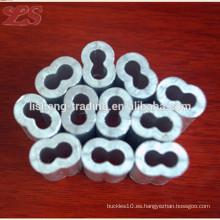 Manga plana de aluminio ovalada