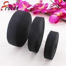 6 centímetros de vestuário preto tecida fita elástica