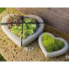 Heart shape G603 granite flower pots