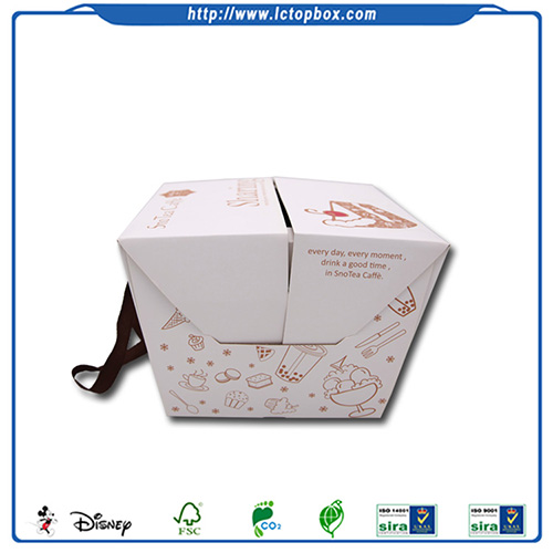 Fancy take away cake packing paper boxes