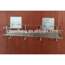 Stainless Steel Multi-function Bathroom Shelf With Suction Cup