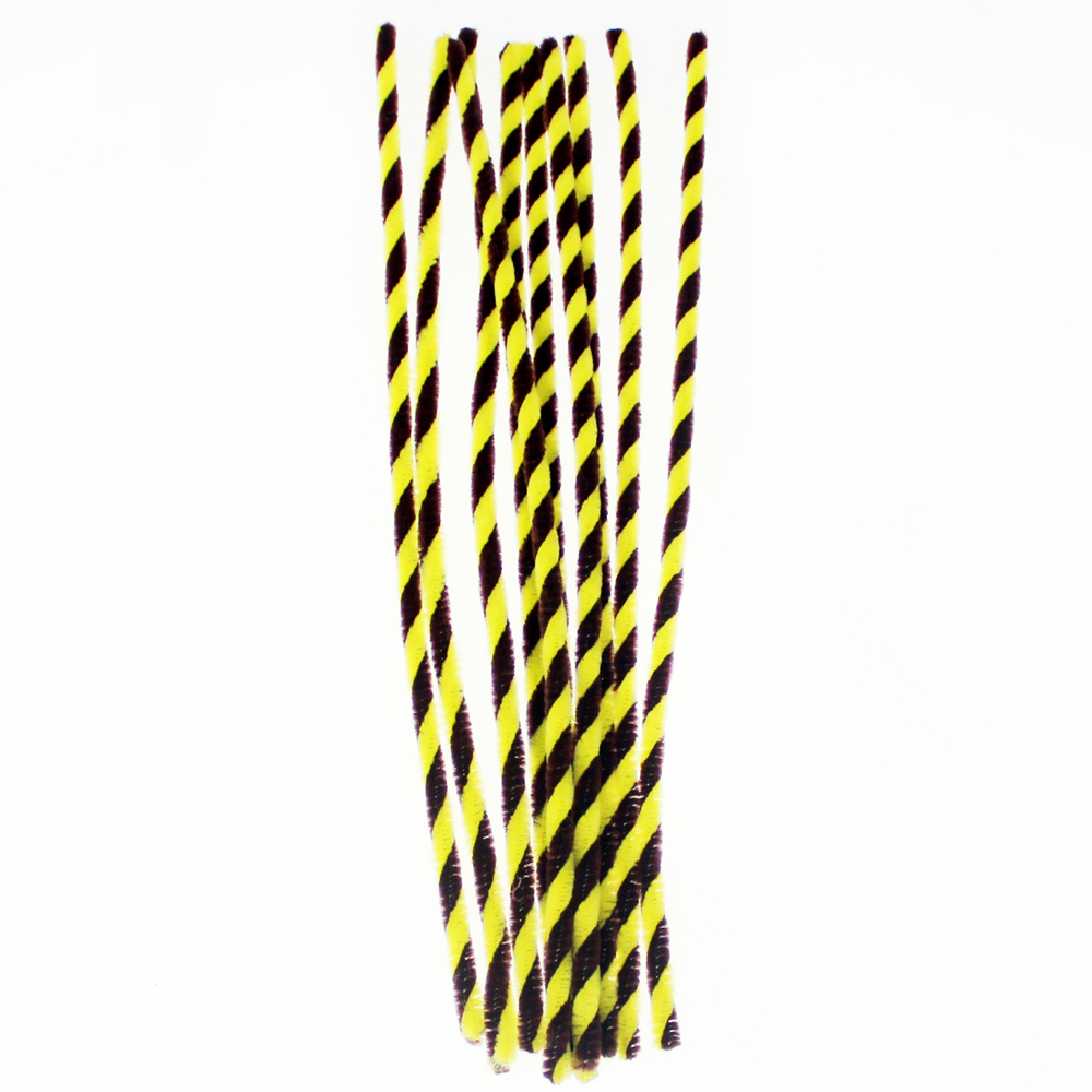 Twist Chenille stems stick kids Diy decoration crafts, Yellow and black