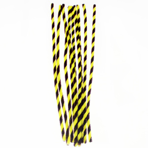 Twist Chenille stems stick Yellow and black