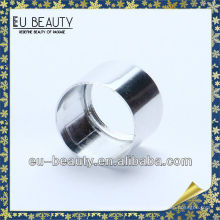 Round aluminum closure for perfume crimp pump