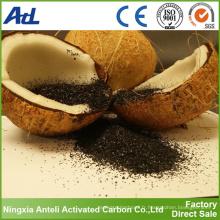 Vente chaude de charbon actif granulaire à base de noix de coco pour filtre à air et poussière