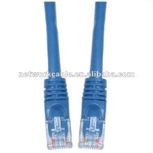CAT5E utp rj45 8p8c cable de cable de conexión con conector rj45 dual