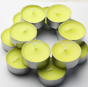 Colorful tealight candle