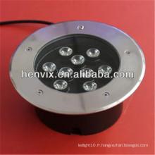 9w conduit lumière souterraine 12v pour usage commercial